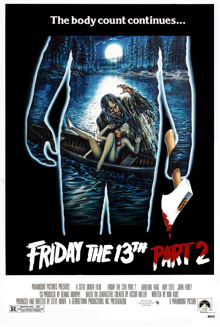 Friday 13th part 2 poster original artwork