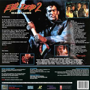 Evil Dead 2 Blood Red Back Cover